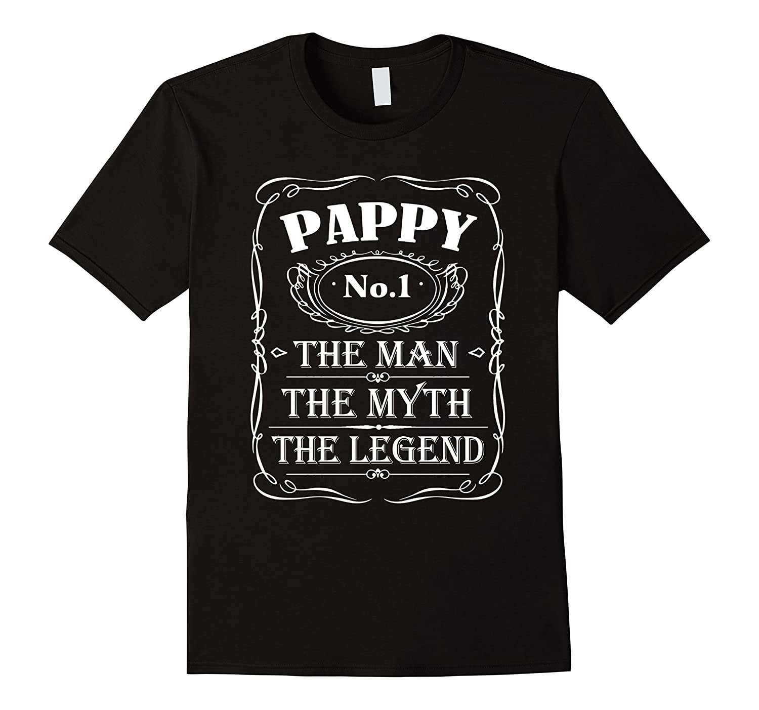 Mens Pappy The Man The Myth The Legend Gift Father's Day shirt