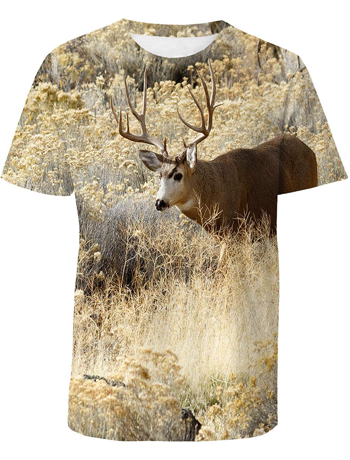 National Wildlife Mens Everyday ComfortSoft Short Sleeve T-Shirt for Workout Running Sports