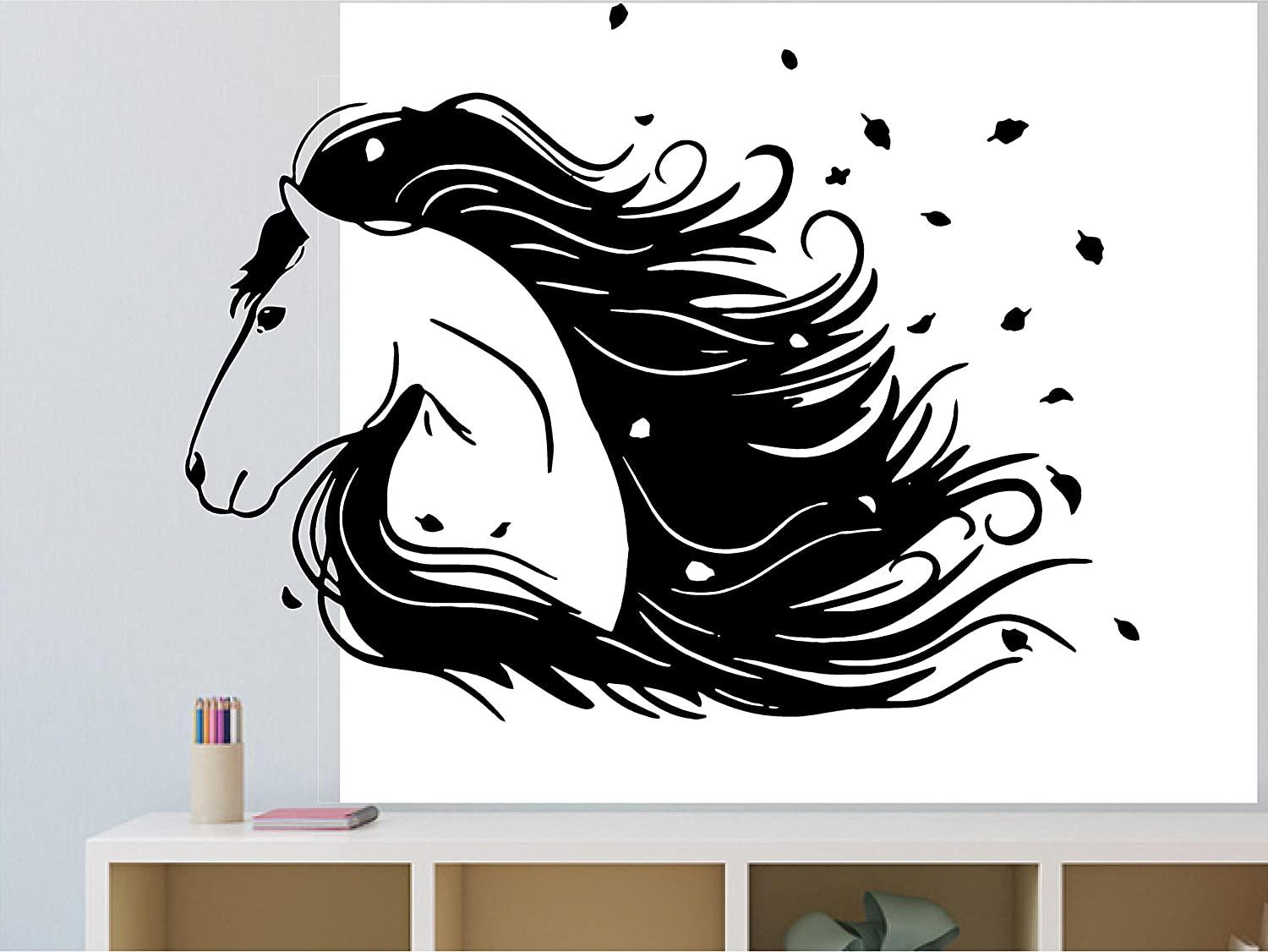 Fashionable horse Wall Stickers Modern Fashion Wall Sticker For Kids Rooms