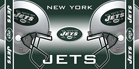 Amazon Com Wincraft Nfl New York Jets Fiber Reactive Beach Towel Sports Fan Beach Towels Sports Outdoors