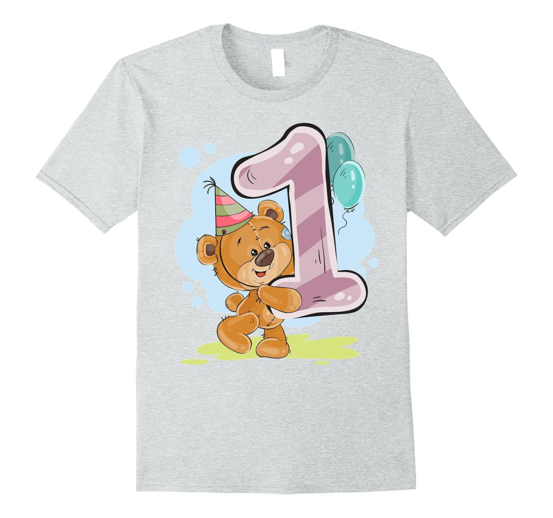 TEDDY BEAR T Shirt HAPPY BIRTHDAY 1 ONE YEAR OLD Tees TH