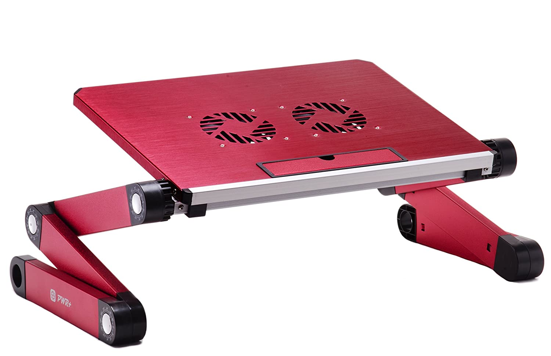Amazon.com: Ajustable Laptop Tabla Notebook Computer cama del escritorio portátil Bandeja Soporte de libro con aficionados 2x Cooling Pad Diseño ergonómico ...