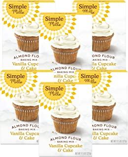 product image for Simple Mills Almond Flour Baking Mix, Gluten Free Vanilla Cake Mix, Muffin pan ready, Made with whole foods 6 Count (Packaging May Vary)
