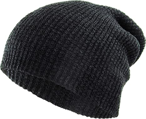 Unisex Plain Warm Soft Beanie Hat Skullcap Skullie