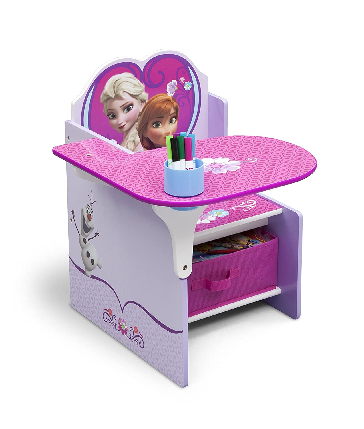 Amazon.com: Delta Children Chair Desk With Storage Bin, Disney Frozen: Baby