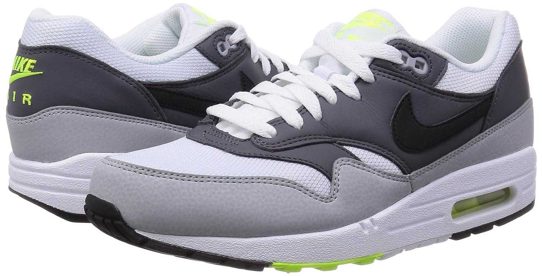 buy popular 76237 fb0d3 Nike 537383-128 Men AIR MAX 1 Essential White Dark Grey Wolf Grey BLK  NIKE   Amazon.ca  Shoes   Handbags