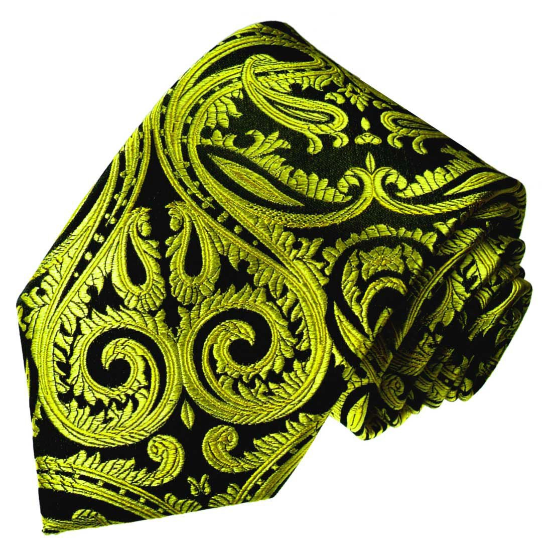 LORENZO CANA – Original marcas corbata de seda 100% – Negro ...