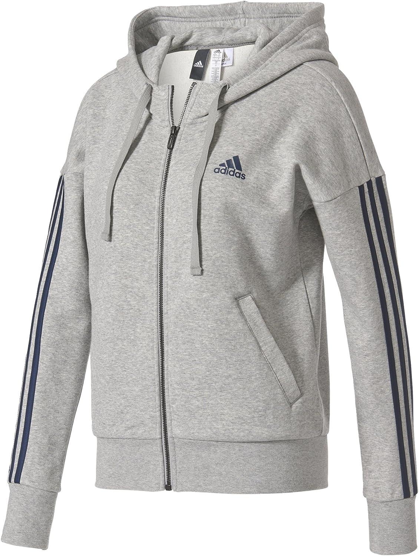 Adidas Ess 3s Fz Hd Felpa Donna