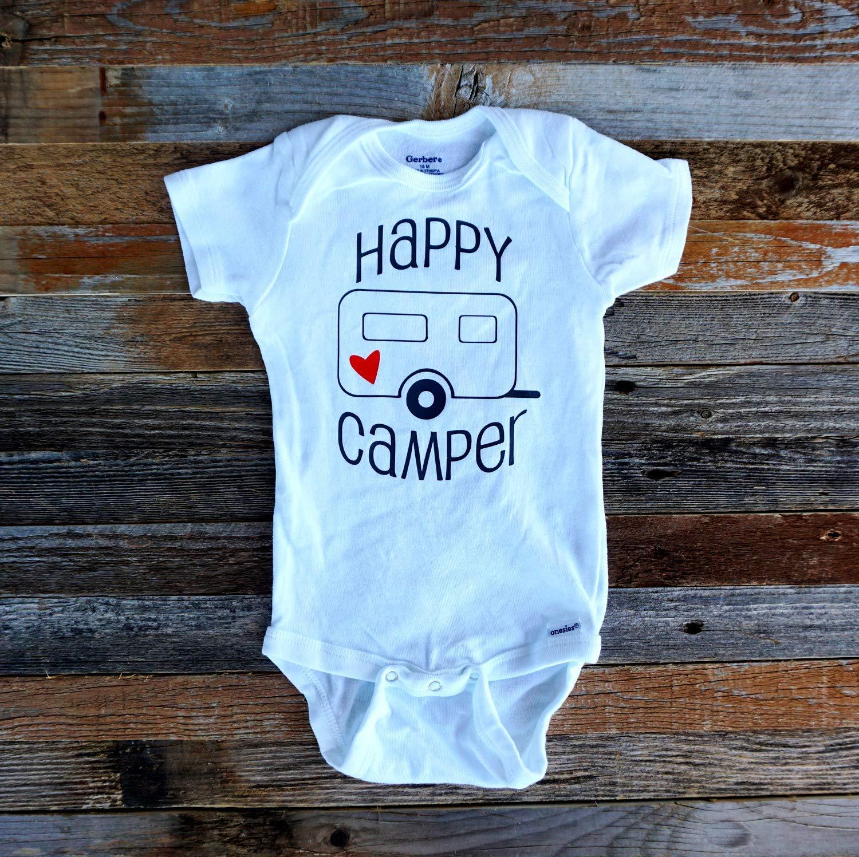 Happy Camper Bodysuit Infant Camping Bodysuit