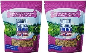 Natural Balance L.I.T. Sweet Potato and Venison Formula Dog Treats, Small Breed, 16-Ounce (2 Packs 8-Ounce each)