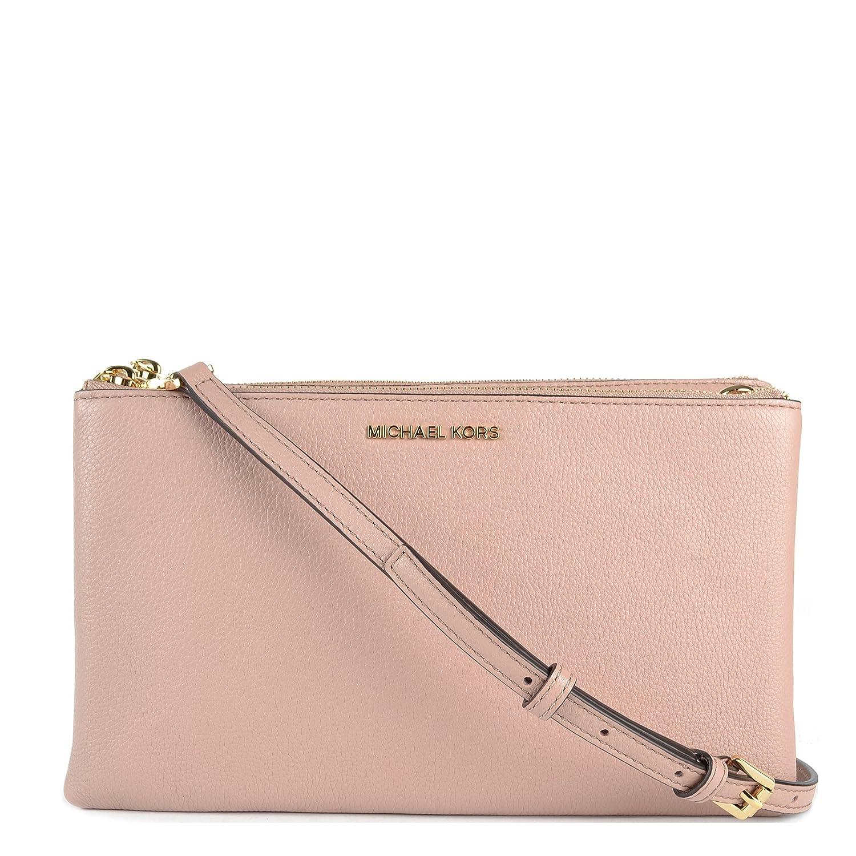 405ee01dc225 Michael Kors - Adele Double Zip Crossbody, Fawn: Amazon.co.uk: Shoes & Bags