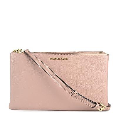 22d9dc055f8b Michael Kors - Adele Double Zip Crossbody, Fawn: Amazon.co.uk: Shoes ...