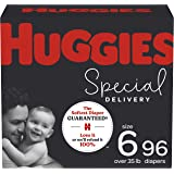 Hypoallergenic Baby Diapers Size 6, 96 Ct, Huggies Special Delivery