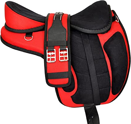 All Purpose Freemax Synthetic Treeless Horse Saddle with multiple Gift All Size