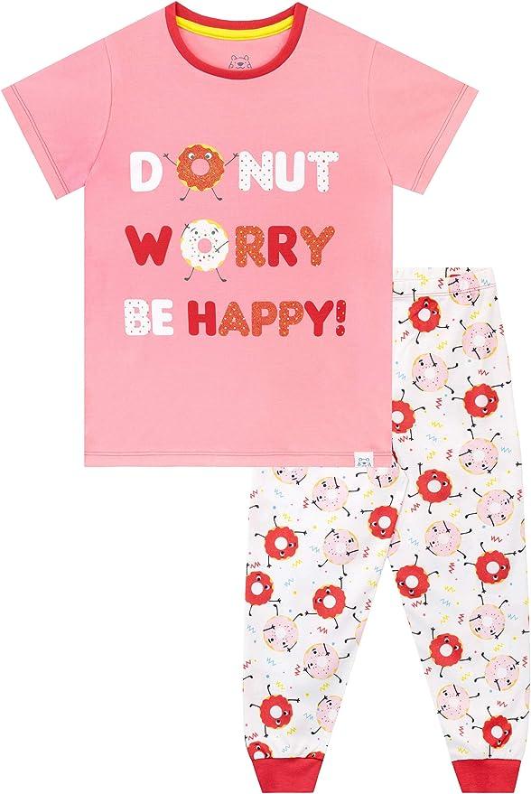 Harry Bear Pijamas de Manga Corta para niñas Rosquilla
