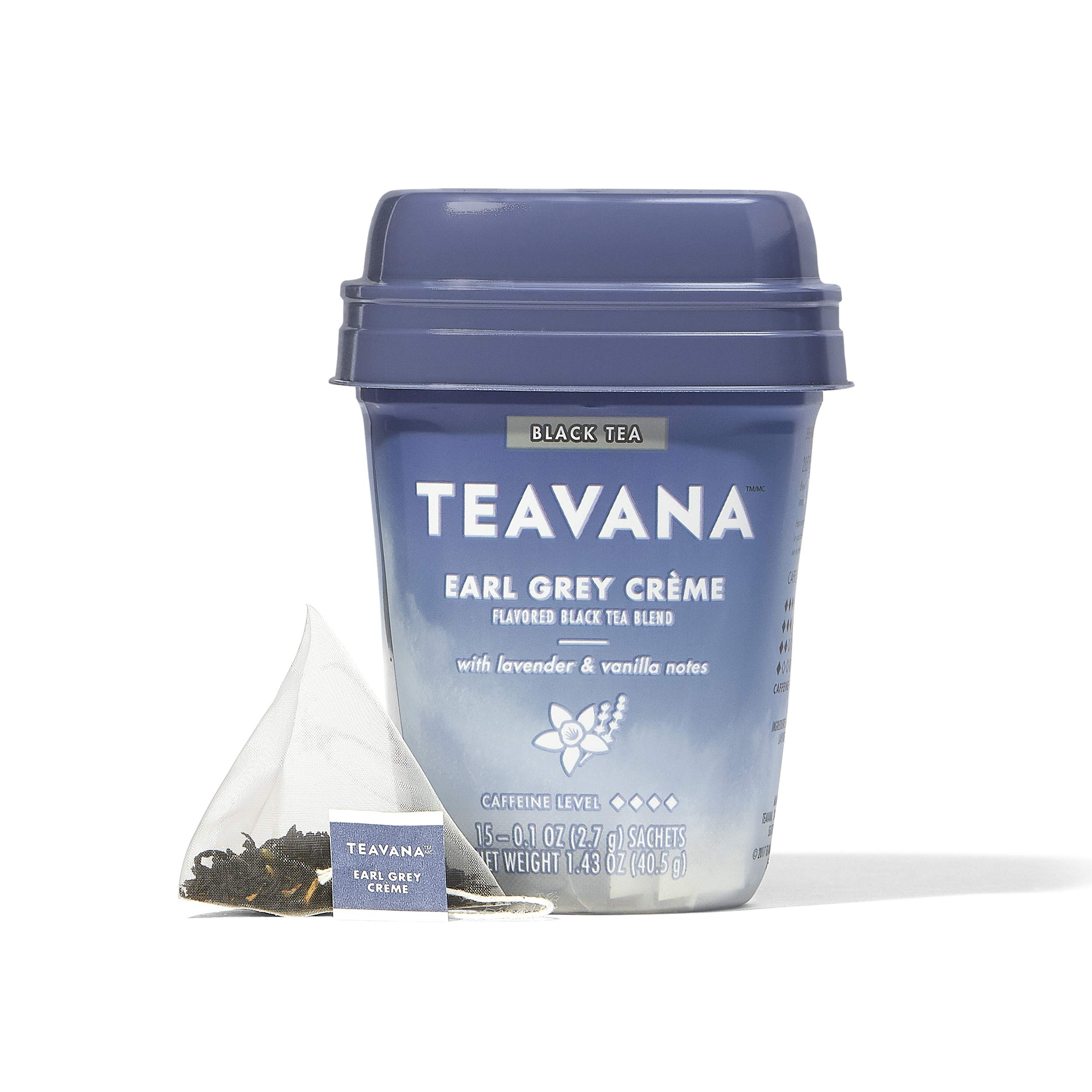 Teavana Earl Grey Crème, Black Tea With Lavender and Vanilla Notes, 60 Count (4 packs of 15 sachets) by Teavana