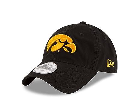 best website d63d4 75e45 New Era NCAA Iowa Hawkeyes Unisex NCAA Core Shore Primary 9TWENTY  Adjustable Cap, Black,