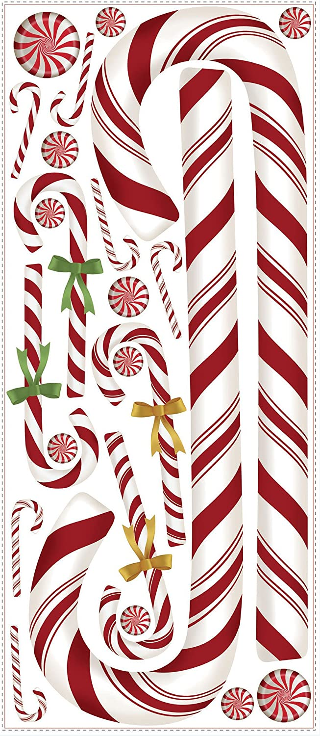 Roommates Rmk2481gm Candy Cane Peel And Stick Giant Wall Decals 1 Pack Amazon Ca Tools Home Improvement