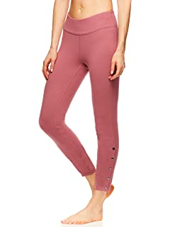 5e2ad7cce1 Gaiam Women's High Waisted 7/8 Yoga Pants - Performance Compression Workout  Leggings