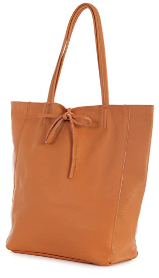 LIATALIA Genuine Italian Soft Leather Leightweight Large Hobo Tote Shopper  Shoulder Handbag - ASTRID  Orange   Amazon.in  Clothing   Accessories 0eec75902b599