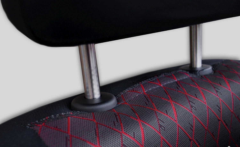 Fiat Doblo Rot Universal Sitzbezüge Sitzbezug Auto Schonbezüge PROFI