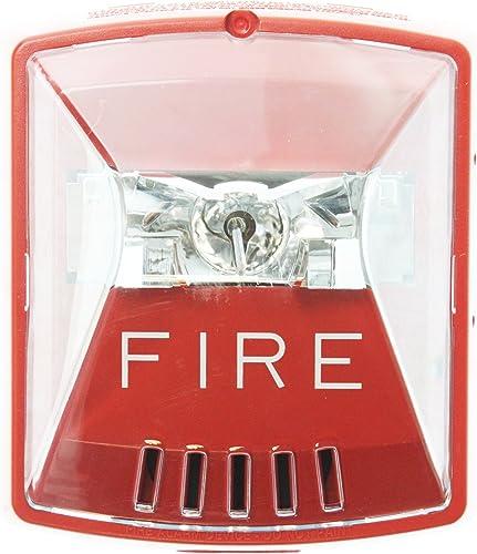 Wheelock HSR Exceder Fire Alerting Strobe Horn RED,2W,Wall Mount, 12 24V, 8CD