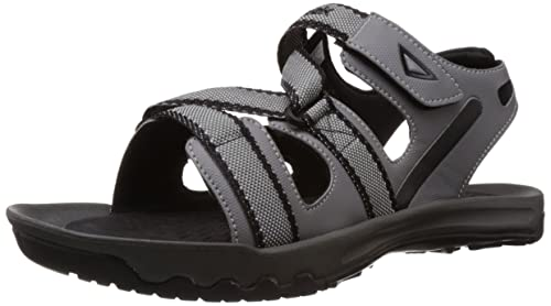 dc52b3508384 Image Unavailable. Image not available for. Colour  Reebok Men s Trail  Safari Grey and Black Sandals ...