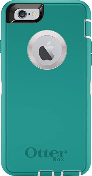 48bee5110b0e Amazon.com  OtterBox DEFENDER iPhone 6 6s Case - Frustration Free Packaging  - SEACREST (WHISPER WHITE LIGHT TEAL)  Cell Phones   Accessories
