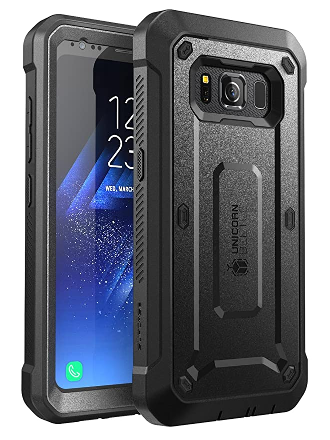 SUPCASE Galaxy S8 Active Case, Full-Body Rugged Holster Case with Built-in Screen Protector for Samsung Galaxy S8 Active, Unicorn Beetle Pro Series, ...