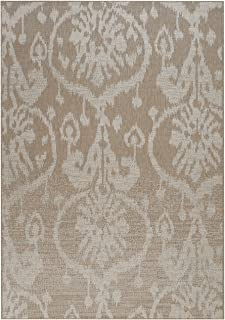 "product image for Capel Rugs Udorn-Sunburst Rectangle Machine Woven Area Rug, 3' 11"" x 5' 6"", Tan"
