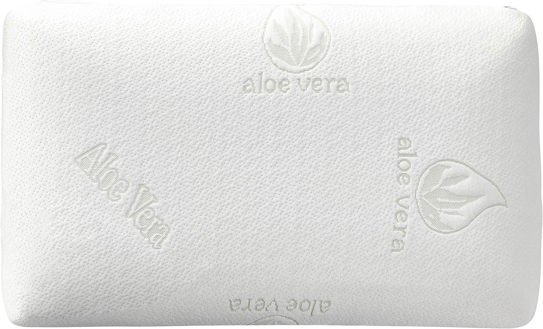 AmazonBasics - Almohada de espuma viscoelástica con aloe vera (70x42x13cm)