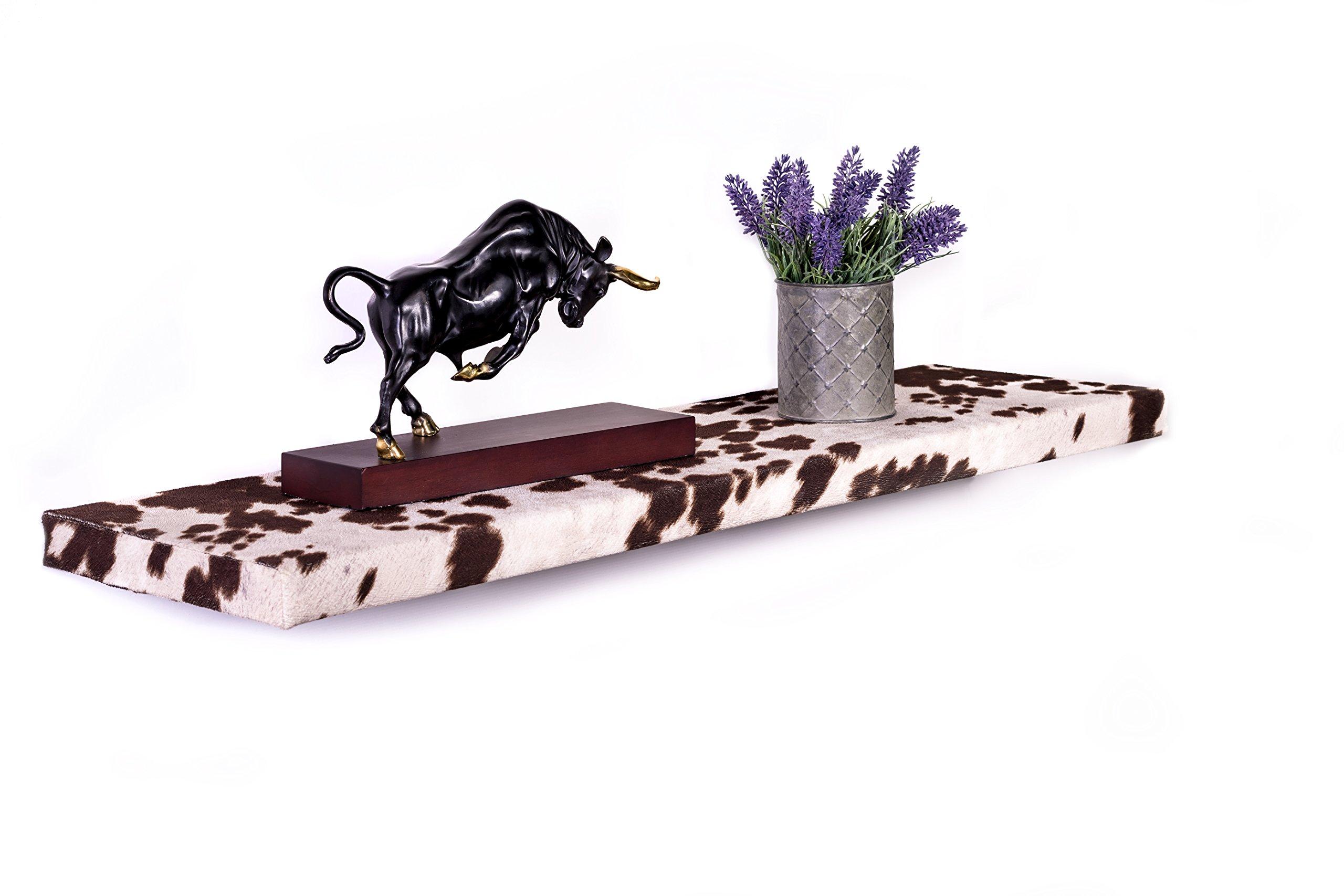 DAKODA LOVE 10'' Deep Cowhide Floating Shelves (Brown, 36'') by DAKODA LOVE (Image #2)