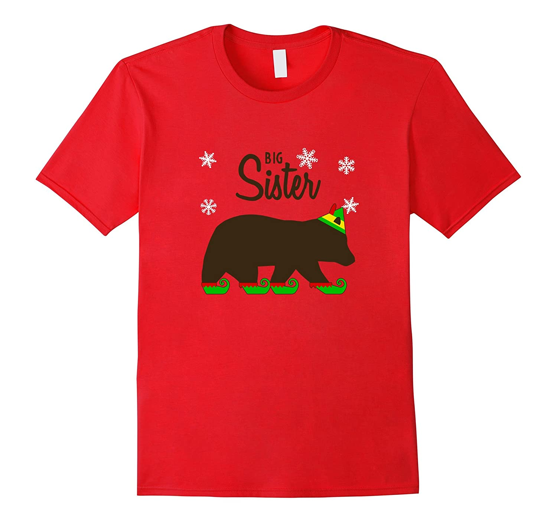 Big Sister Bear Christmas Jammies Pajama T-Shirt Matching-FL