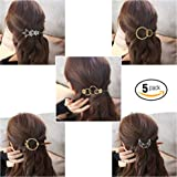 SGM Minimalist Hair Clips (Gold and Silver) - Pack of 5