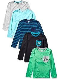 Amazon Brand - Spotted Zebra Boys' Toddler & Kids 5-pack Long-sleeve T-shirts