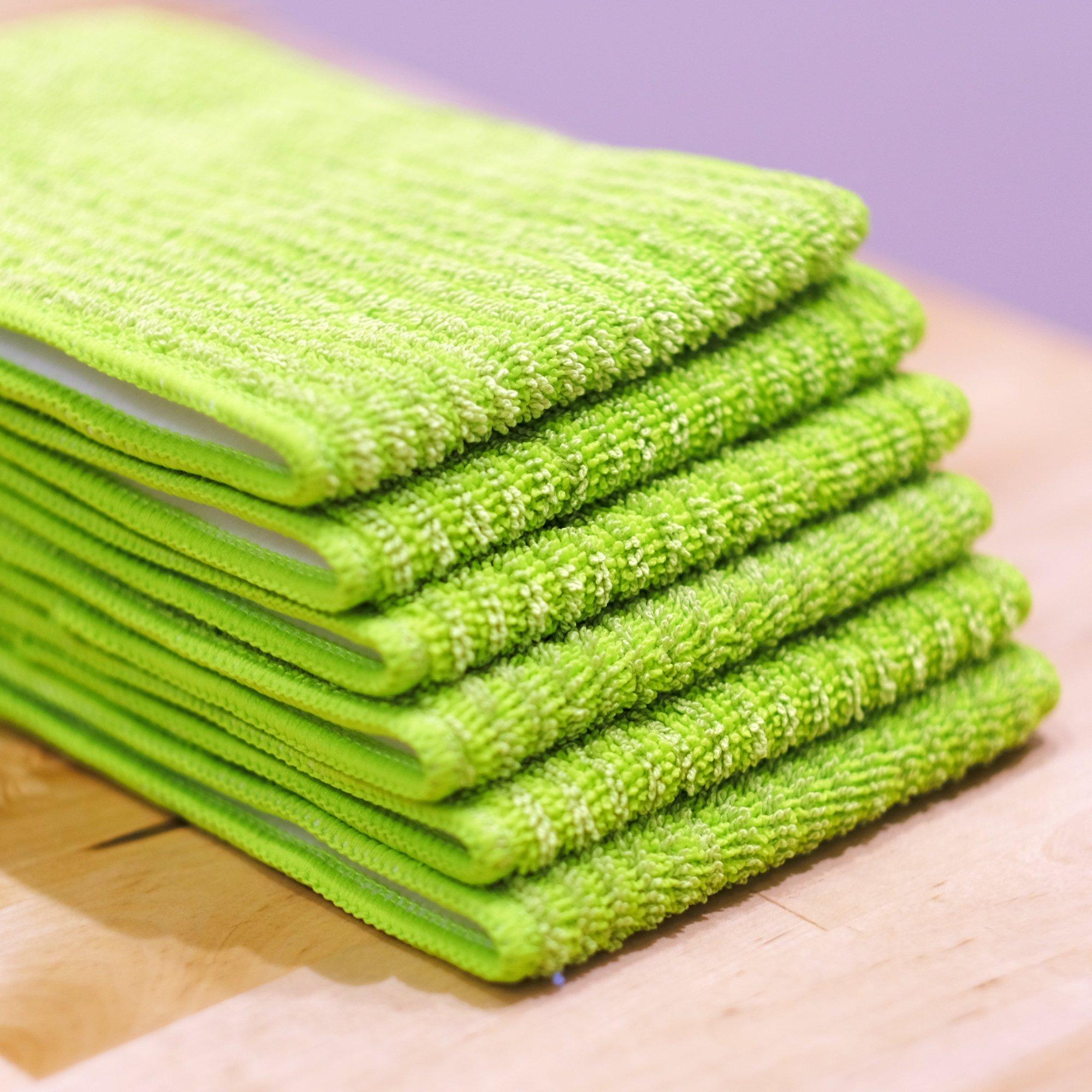 Microfiber Mop 18inch Velcro Wet & Dry Mop Refill for Hardwood Floors Set of 8 by Bear Family by Bear Family Microfiber (Image #8)