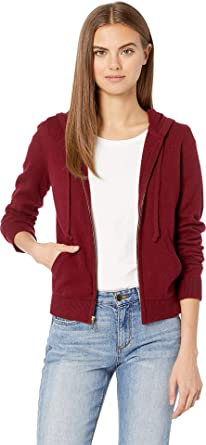 1331d7e26700 Juicy Couture Women s Juicy Pull Jacket Burgundy Wine Petite X-Small