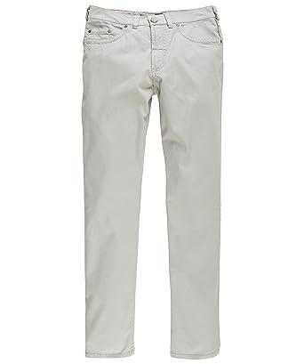 Gardeur Nevio, Sommer Herren Jeans Hose, Popeline, silbergrau, W 33 L 30