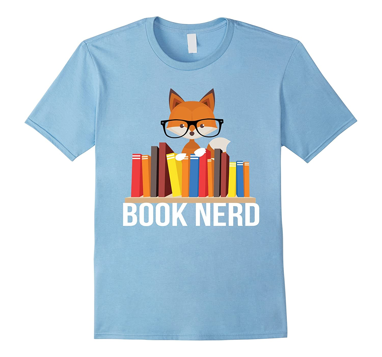 Book Nerd Fox Animal Lovers Cute Funny Reading Geek Shirt-T-Shirt