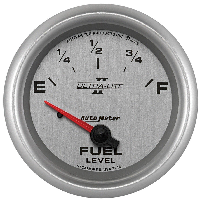 GM Gauge Auto Meter 7714 Ultra-Lite Pro II 2-5//8 0 E// 90 F Short Sweep Electric Fuel Level