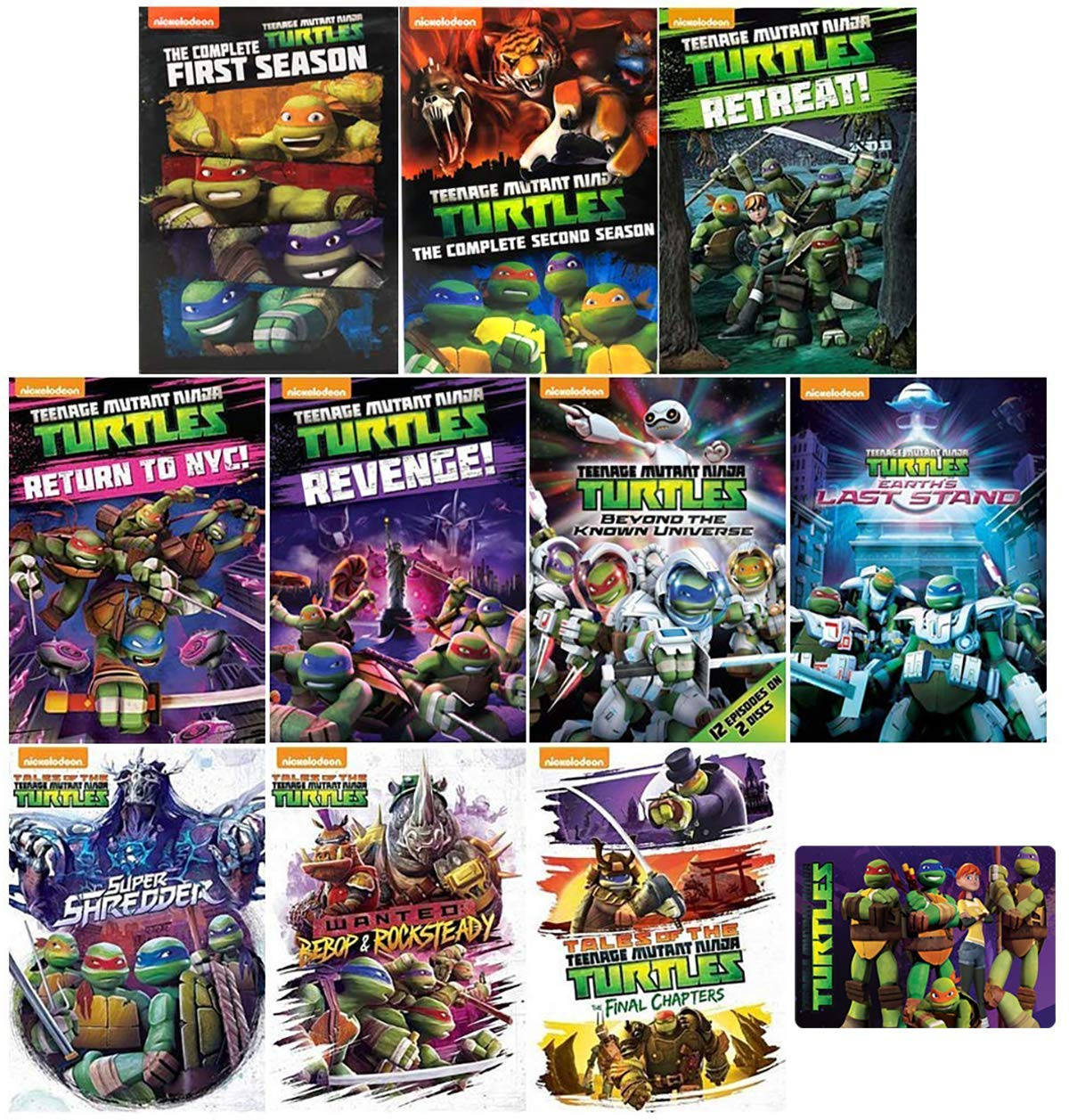 Amazon Com Teenage Mutant Ninja Turtles The Complete Reboot Tv Series Seasons 1 5 Dvd Collection With Bonus Glossy Art Card Sean Astin Rob Paulsen Greg Cipes Movies Tv