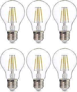 5x Bombilla de filamento LED greenandco® IRC 90+ regulable E27 8W ...