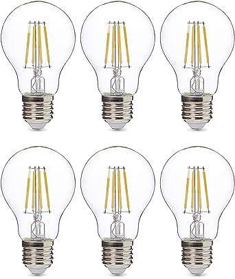 AmazonBasics Professional - Bombilla de tipo Edison LED, casquillo E27, equivalente a 60 W