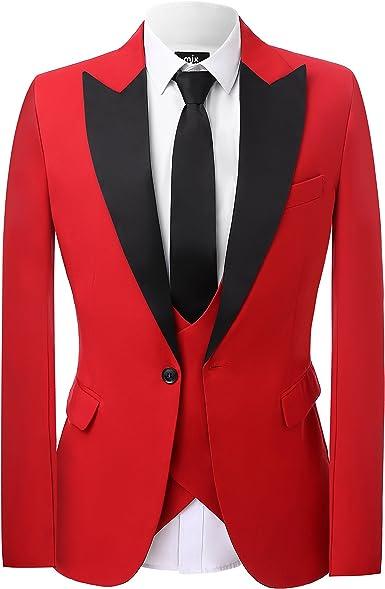 Men/'s Black Blazer Wedding Suit Groom Tuxedos Dinner Party Fashion Suit Custom