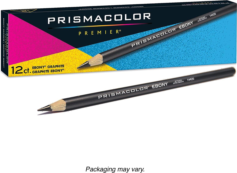 Black,12-Count Prismacolor 14420 Ebony Graphite Drawing Pencils