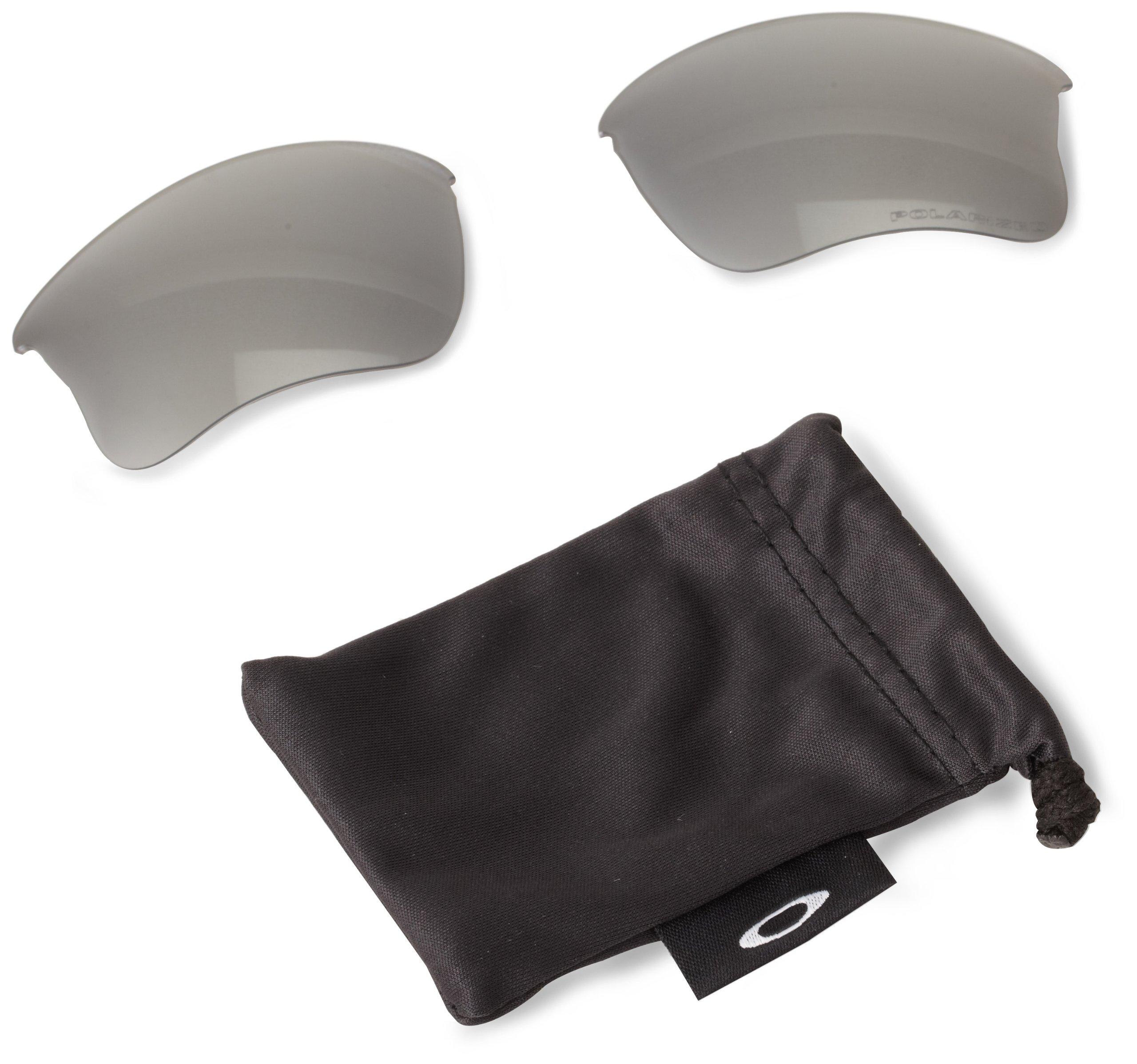 Oakley Men's Flak Jacket XLJ Sunglasses Replacement Lenses, Black Iridium Polarized, 63 mm by Oakley