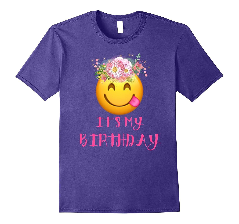 Cute Emoji Birthday Shirt For Girl 5, 6, 7, 8, 9, 10, 11, 12-FL