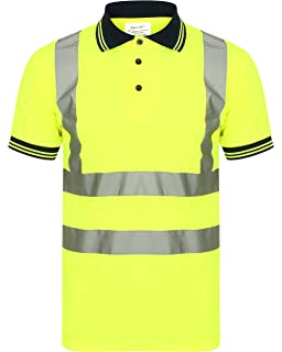 Facility Maintenance & Safety Hi Viz Vis High Visibility Polo Shirt Reflective Tape Safety Security Work Top