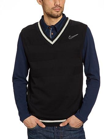 9aa2a9a0a8d2 Nike Weste Men s Sweater black grey heather wolf grey Size M  Amazon ...