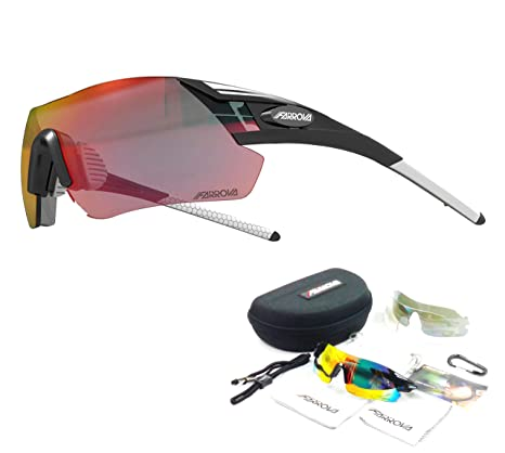 8a080ee3ede FARROVA - KD0581 Sports Sunglasses with 3 Set Interchangeable Lenses (Main  Lenses are Revo Plated